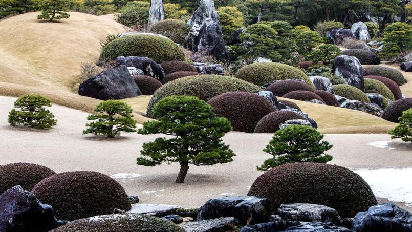 Ouvert toute l'année, le jardin du musée Adachi peut être admiré en toute saison, mais toujours depuis des barrières et des baies vitrées car l'accès en est interdit. Crédit photo: Maël Kerneïs