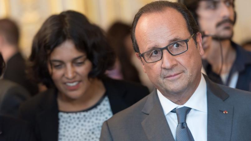 Myriam El Khomri et François Hollande à l'Élysée, le 17 septembre 2015.