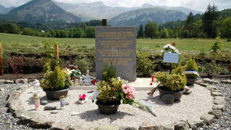 Un monument à la mémoire des victimes du crash de l'avion de la Germanwings.