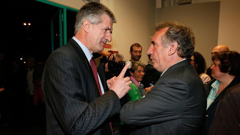 Jean Lassalle et François Bayrou, le président du MoDem