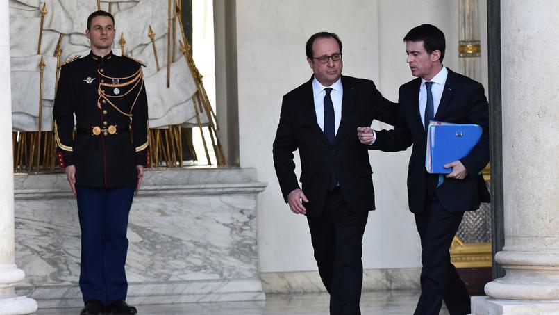 François Hollande et Manuel Valls, à l'Elysée