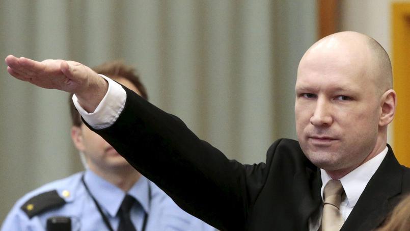 Anders Behring Breivik mardi au procès qu'il intente contre l'Etat norvégien.