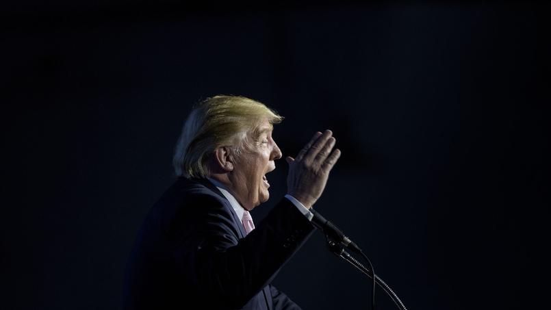 Donald Trump lors d'un meeting pendant la campagne des primaires.