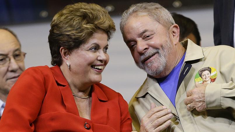 La présidente Dilma Rousseff et Luiz Inacio Lula ds Silva.