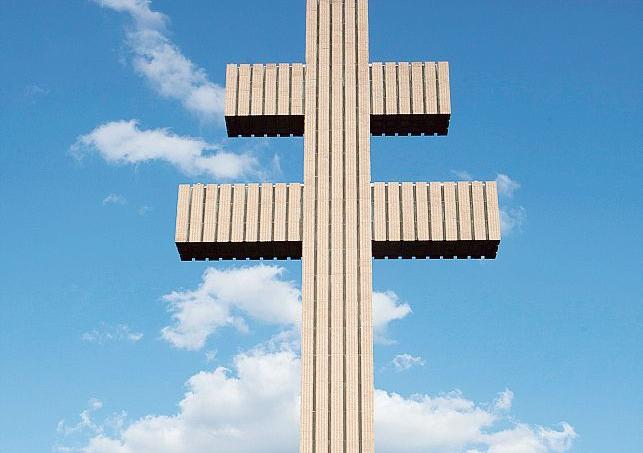 La croix de Lorraine de Colombey.