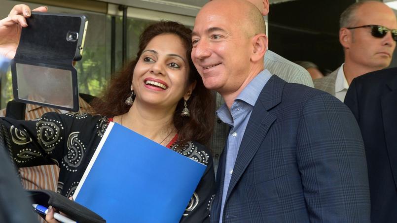 Jeff Bezos, fondateur d'Amazon, en 2014. Crédits photos: SAJJAD HUSSAIN / AFP