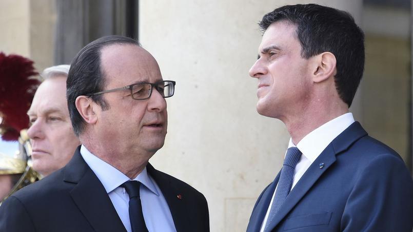 François Hollande président de la République et Manuel Valls, premier ministre
