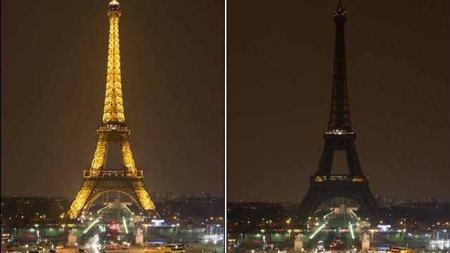 En 2015, la Tour Eiffel avait été éteinte pendant l'Earth Hour