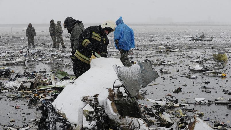 L'avion a été littéralement pulvérisé.