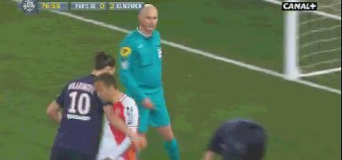 PSG-Monaco: le coup d'épaule déplacé d'Ibrahimovic