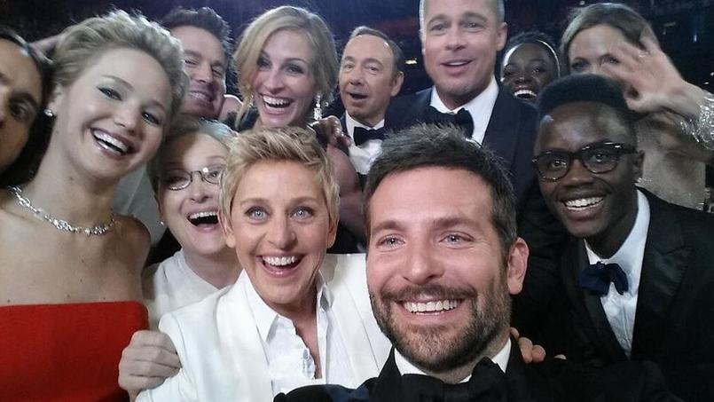 La photo d'Elle DeGeneres lors de la cérémonie des Oscars 2014 a été retweetée plus de trois millions de fois.