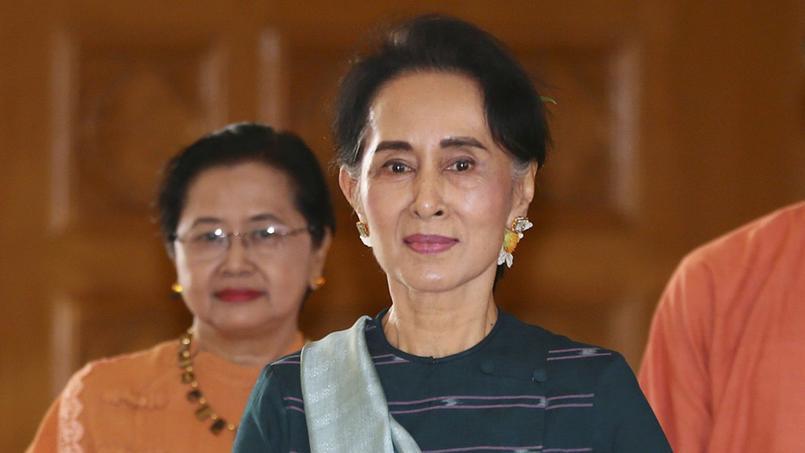 La célèbre dissidente au parlement birman, le 15 mars 2016.
