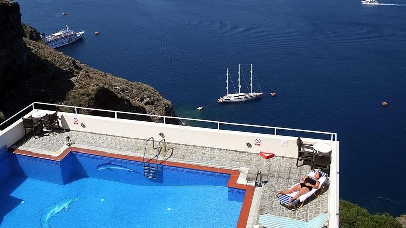 L'île de Santorin, en Grèce.