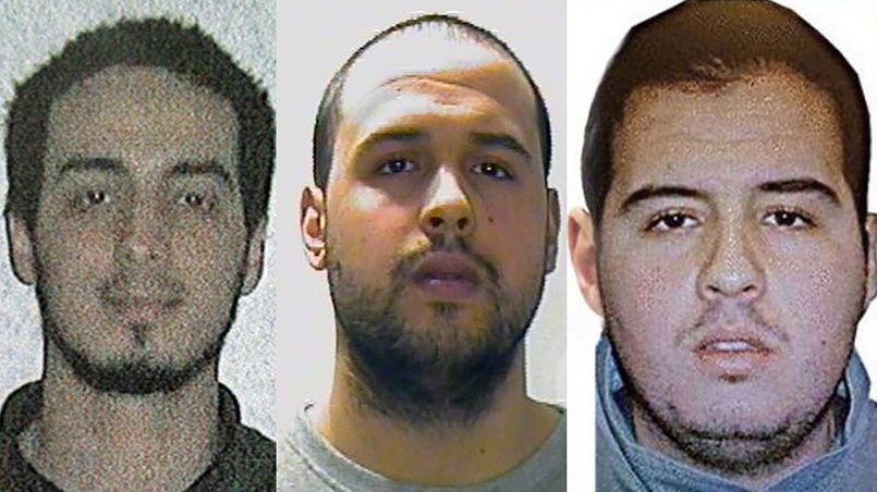De gauche à droite: Najim Laachraoui, Khalid El Bakraoui et Ibrahim El Bakraoui.