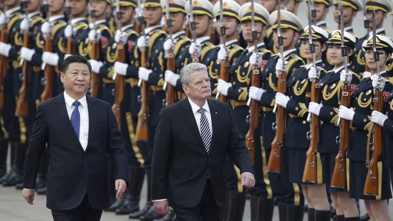 Le président chinois Xi Jinping et son homologue allemand Joachim Gauck, le 21 mars.