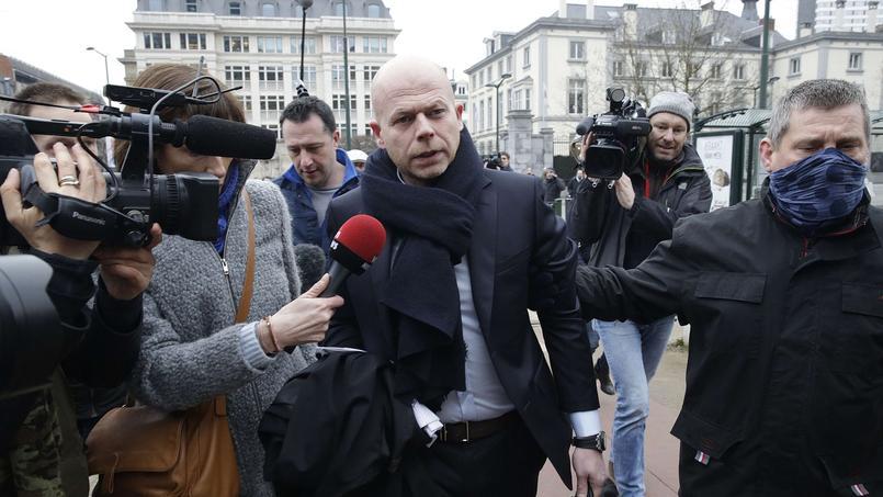 Sven Mary, avocat de Salah Abdeslam, jeudi à Bruxelles.