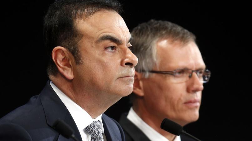 Carlos Ghosn et Carlos Tavares, patrons de Renault et PSA.