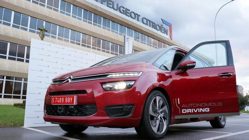 Citroën dispose d'un véhicule de test de conduite autonome sur la base d'un C4 Picasso.