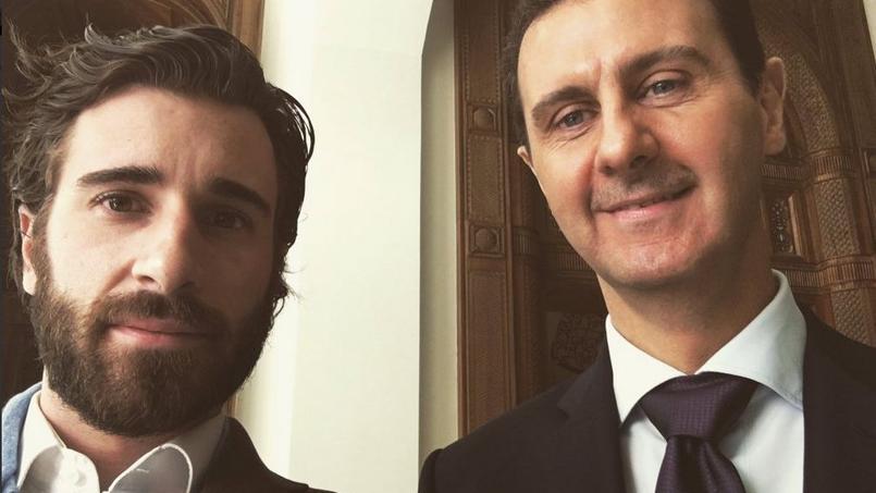 Julien Rochedy, ancien président du Front national de la Jeunesse, dimanche, à Damas