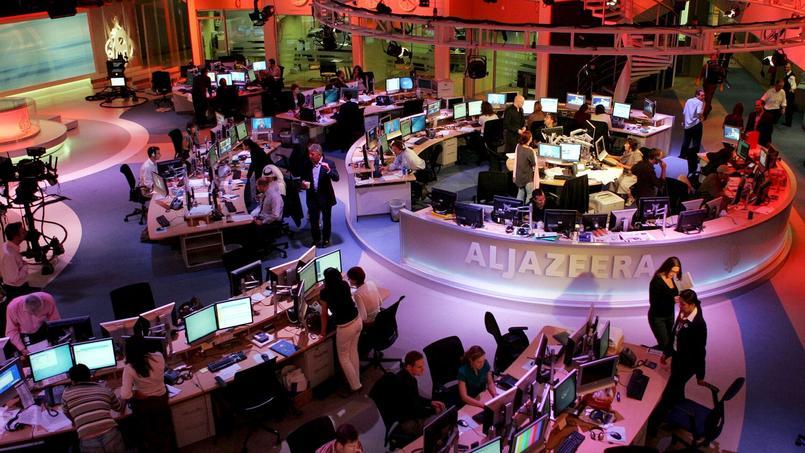 Au siège de la chaîne Al-Jazeera, à Doha.