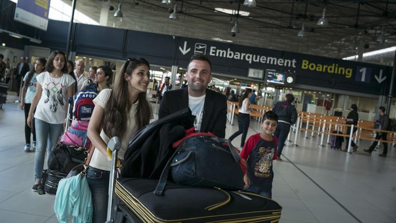 Une famille chrétienne de Qaraqosh, dans le Nord de l'Irak, arrive en France en septembre 2014.