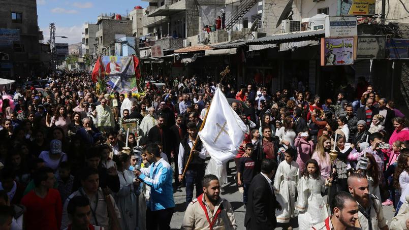 Procession des Rameaux à Damas le 20 mars