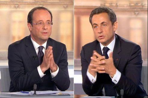 capture d'écran débat présidentiel 2012