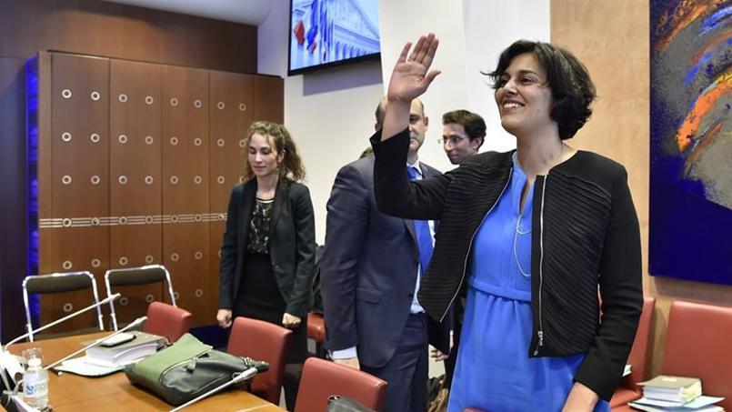 Myriam El Khomri, ce mardi, au début de son audition devant la commission des Affaires sociales de l'Assemblée (Photo: AFP PHOTO / ALAIN JOCARD).