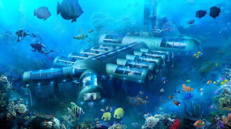 Le Planet Ocean Underwater Hotel sera composé de 12 chambres avec lit king-size et salle de bain. (Planet Ocean Underwater Hotel)