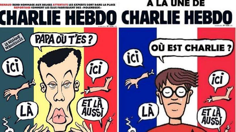Les Belges ont repris le dessin de Riss et caricaturé l'attaque du 7 janvier perpétrée contre la rédaction du journal satirique.