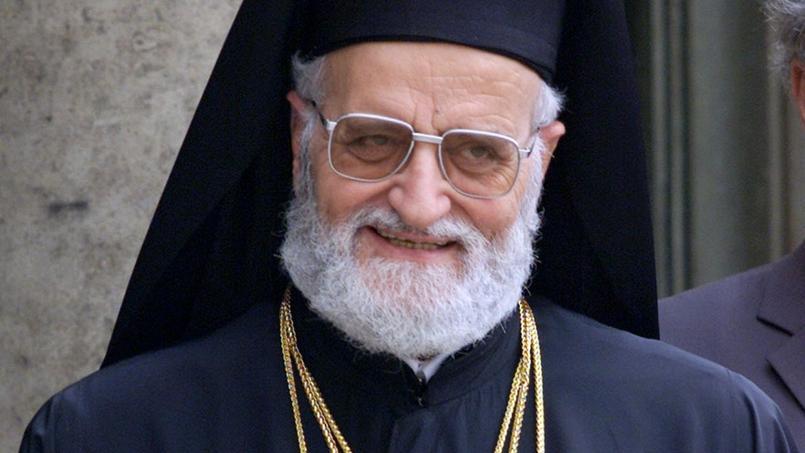 Le patriarche grec-melkite catholique d'Antioche et de tout l'Orient, d'Alexandrie et de Jérusalem, Grégoire III Lahham en 2001.