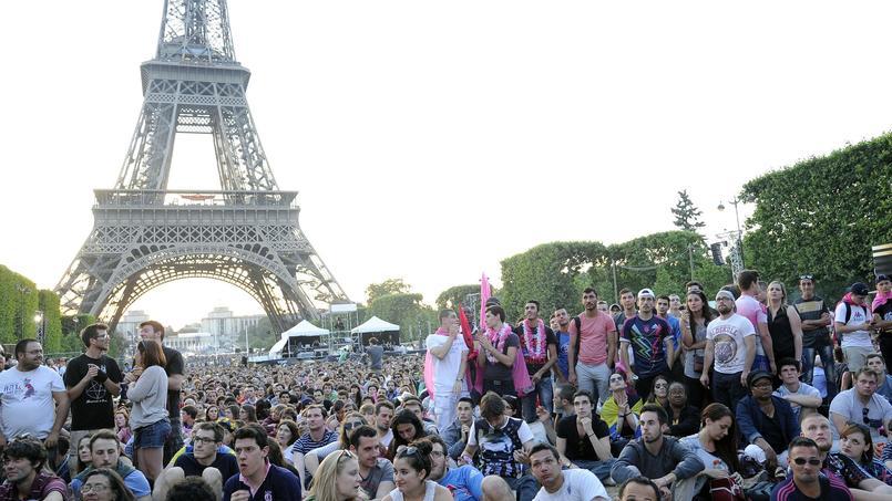 Le Champ de Mars a accueilli les supporteurs du Stade Français pour la finale du Top 14 en juin 2015.