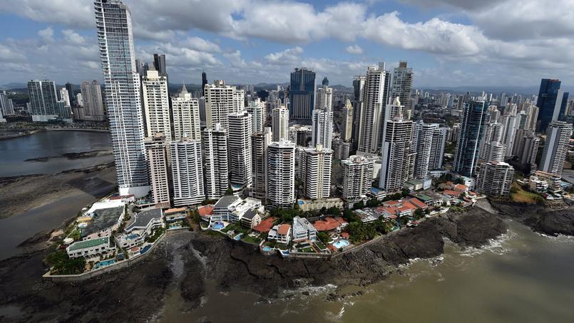 Vue aérienne du quartier d'affaires au Panama.