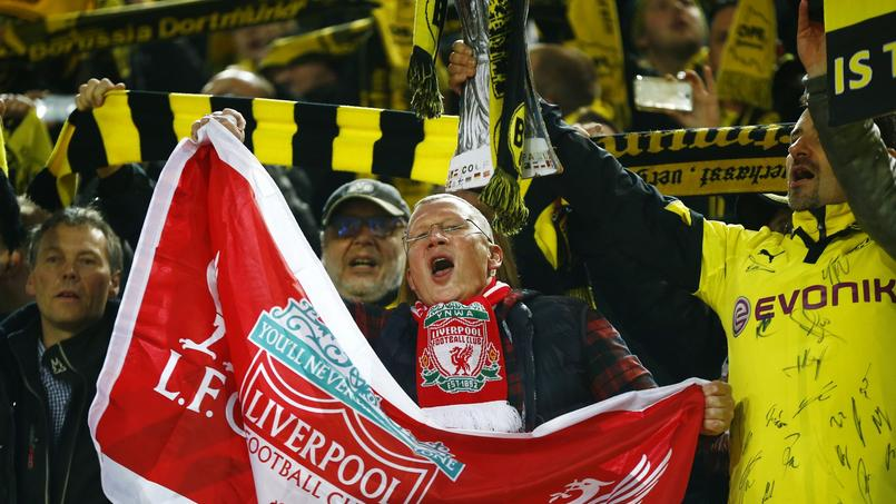 Grand moment quand Dortmund et Liverpool entonnent «You'll never walk alone»