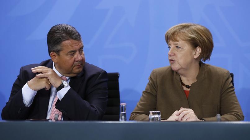 La chancelière Angela Merkel et le vice-chancelier et ministre de l'Economie, Sigmar Gabriel.