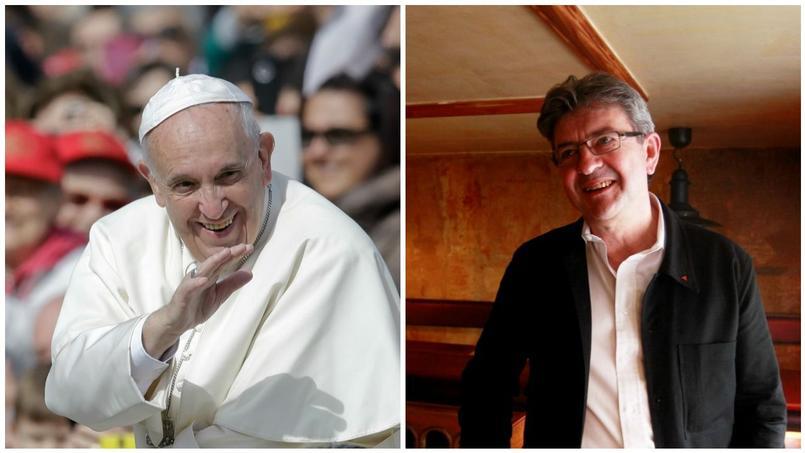 Le pape François et Jean-Luc Mélenchon