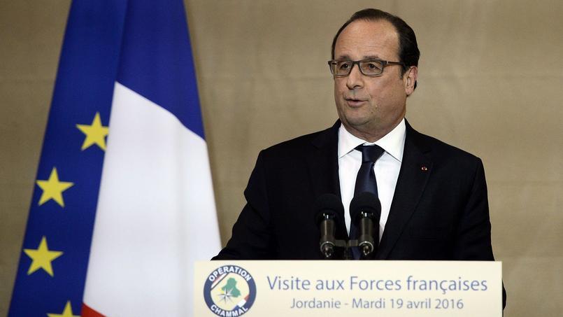 François Hollande en visite officielle en Jordanie, le 19 avril 2016