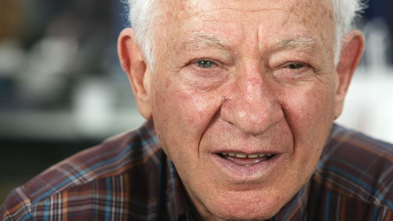 L'écrivain Martin Gray, en novembre 2004 lors de la 23e édition de la Foire du livre de Brive.