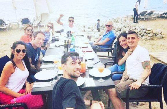 Javier Pastore, Marco Verratti et Marquinhos sont partis à Ibiza.