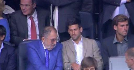 Novak Djokovic était présent dans les tribunes pour la demi-finale entre le Real Madrid et Manchester City.