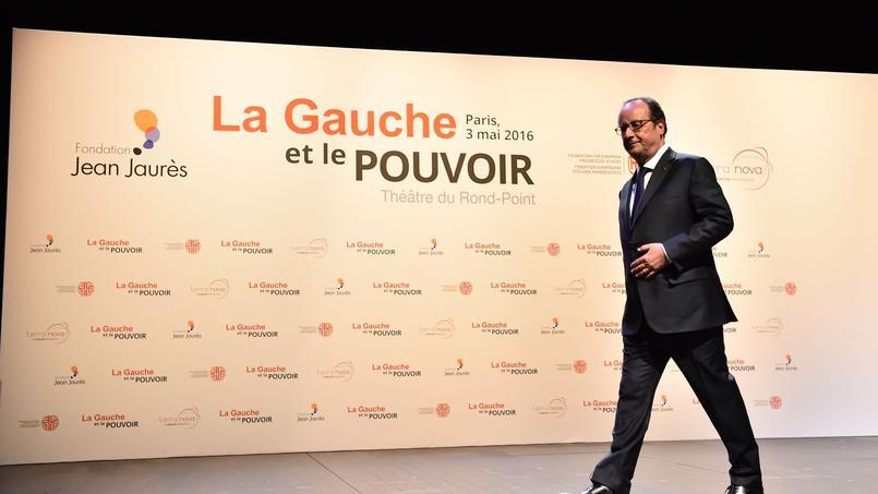 Le président de la République, mardi, devant la Fondation Jean Jaurès