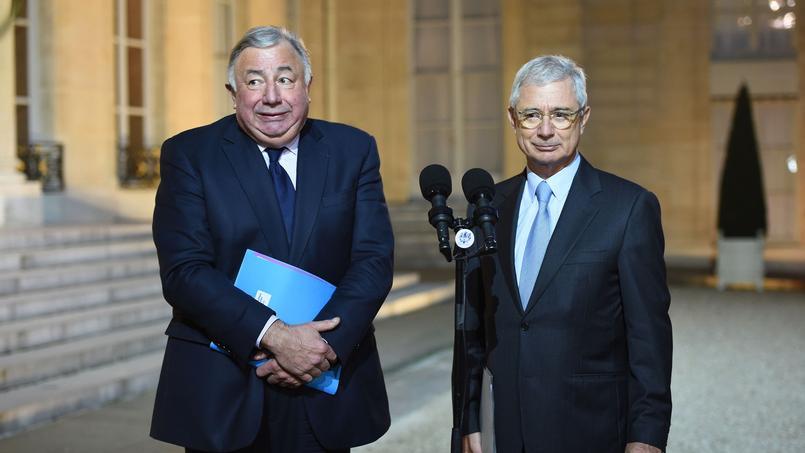 Gérard Larcher, président du Sénat, et Claude Bartolone, président de l'Assemblée.