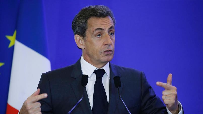 Nicolas Sarkozy au siège du parti Les Républicains, à Paris, le 18 mai.