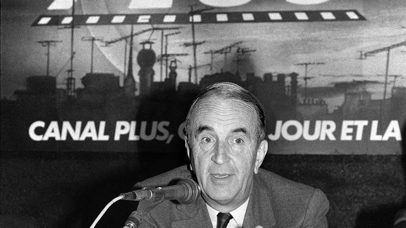André Rousselet le 2 octobre 1984, alors qu'il était président de Canal +
