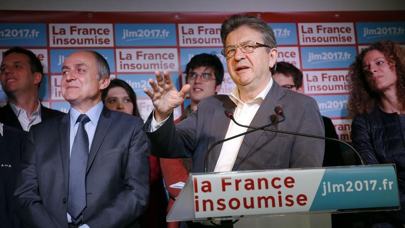 Jean-Luc Mélenchon, fondateur du mouvement «la France insoumise», donnait une conférence de presse le 24 mai 2016 à Paris pour présenter son programme en vue de la présidentielle de 2017.