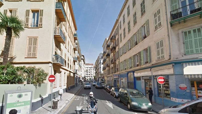 La rue Lamartine à Nice, où a eu lieu l'agression.