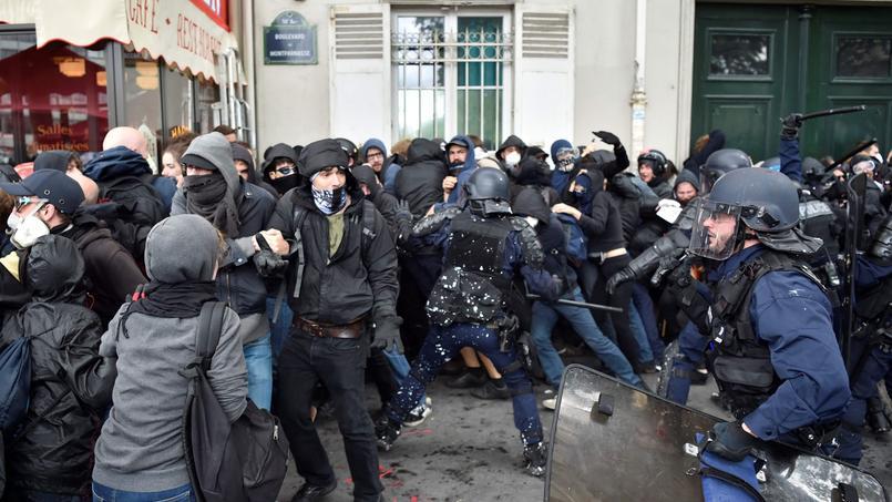 Des échauffourées entre la police et des manifestants dans les rues de Paris, le 14 juin dernier