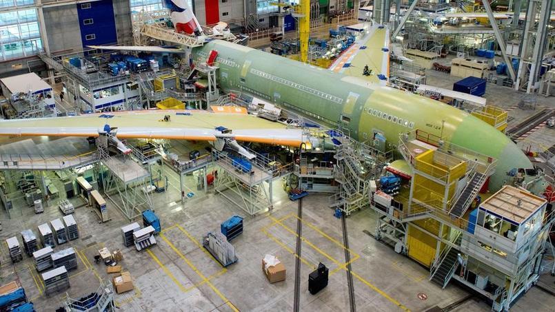 Ligne d'assemblage finale des Airbus