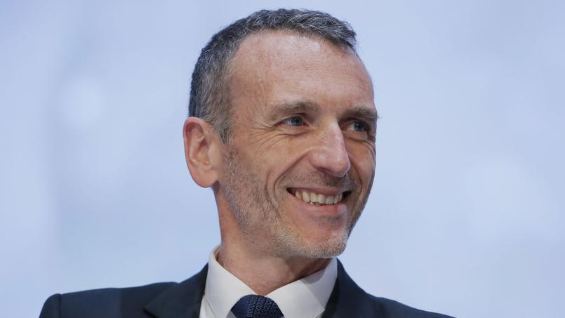 Emmanuel Faber lors d'un meeting à Paris en avril 2015.