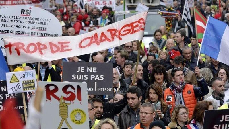 Manifestation contre les dysfonctionnements du régime social des indépendants (RSI). - Crédits photo: LOÏC VENANCE/AFP